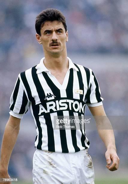 17th April 1988 Italian League Serie A Juventus 3 v Naples 1 Ian Rush Juventus striker who also won 73 Wales international caps between 19801996