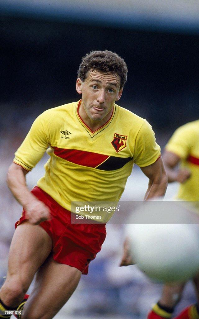 17th August 1985, Division 1, Wilf Rostron, Watford defender 1979-1988