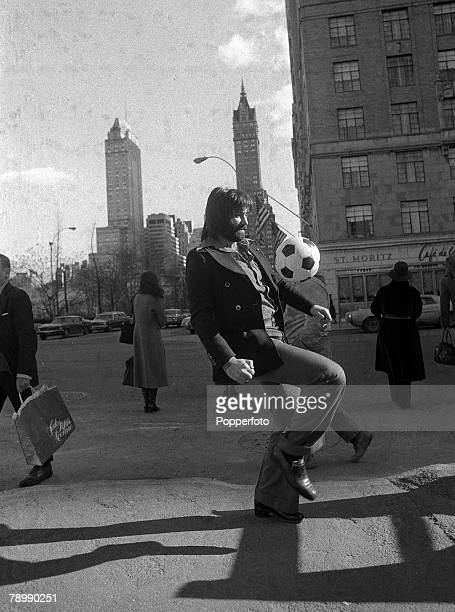 17th January 1975 Superstar George Best pictured in New York where he had gone for talks on signing for New York Cosmos talks which were not...