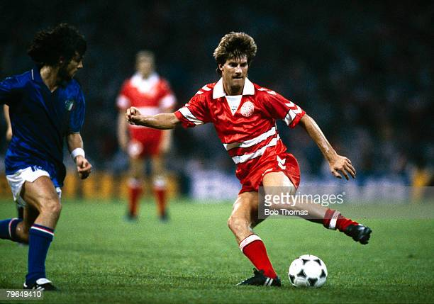 17th June 1988 Cologne European Championship Italy 2 v Denmark 0 Michael Laudrup Denmark who won 104 caps for his country