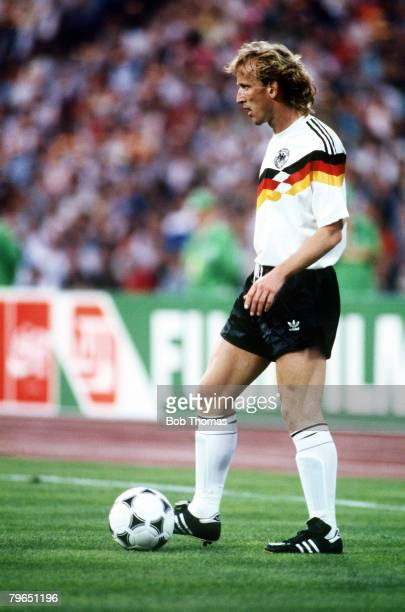 17th June 1988 European Championship Munich West Germany 2 v Spain 0 Andreas Brehme West Germany