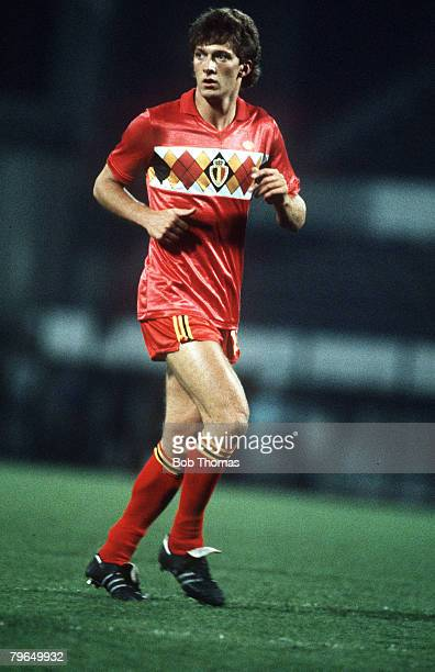 17th October 1984 World Cup Qualifier in Brussels Belgium 3v Albania 1 Alexandre Czerniatynski Belgiuim