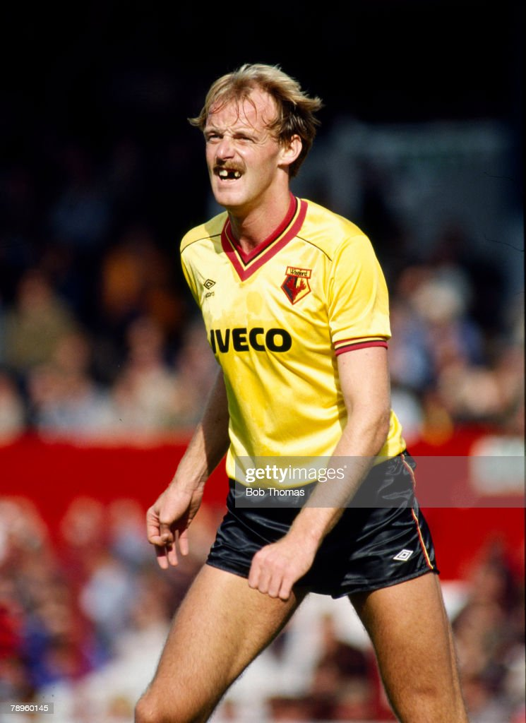17th September 1983, Division 1, Stoke City 0 v Watford 4, Watford striker George Reilly