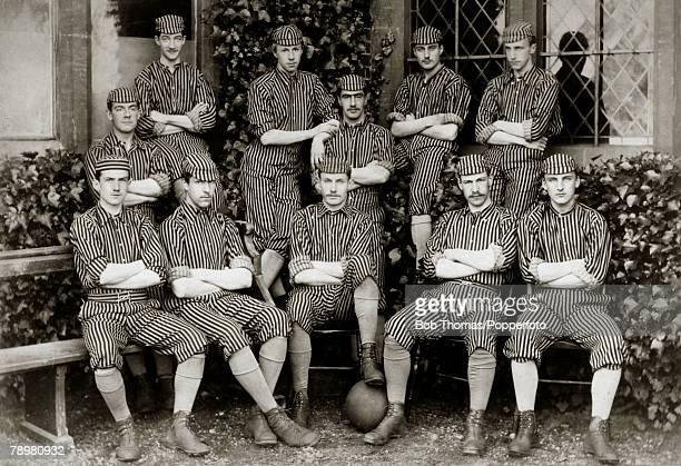 1888 The Harrow Association Football Team Back row leftright CTWright REHollond TConolly RBHoare CPTrevelyan EStogdon Front row leftright JBWhitelaw...