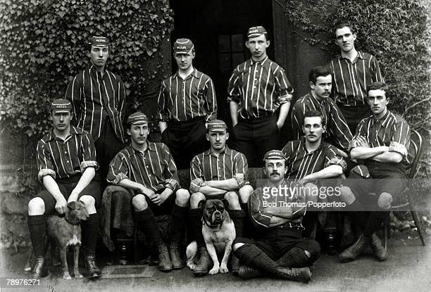 18901891 The Oriel Association Football XI Standing leftright WHBrain DCrossman CENicholl JFairhurst Seated leftright EMurray LCHPalairet VTHill...