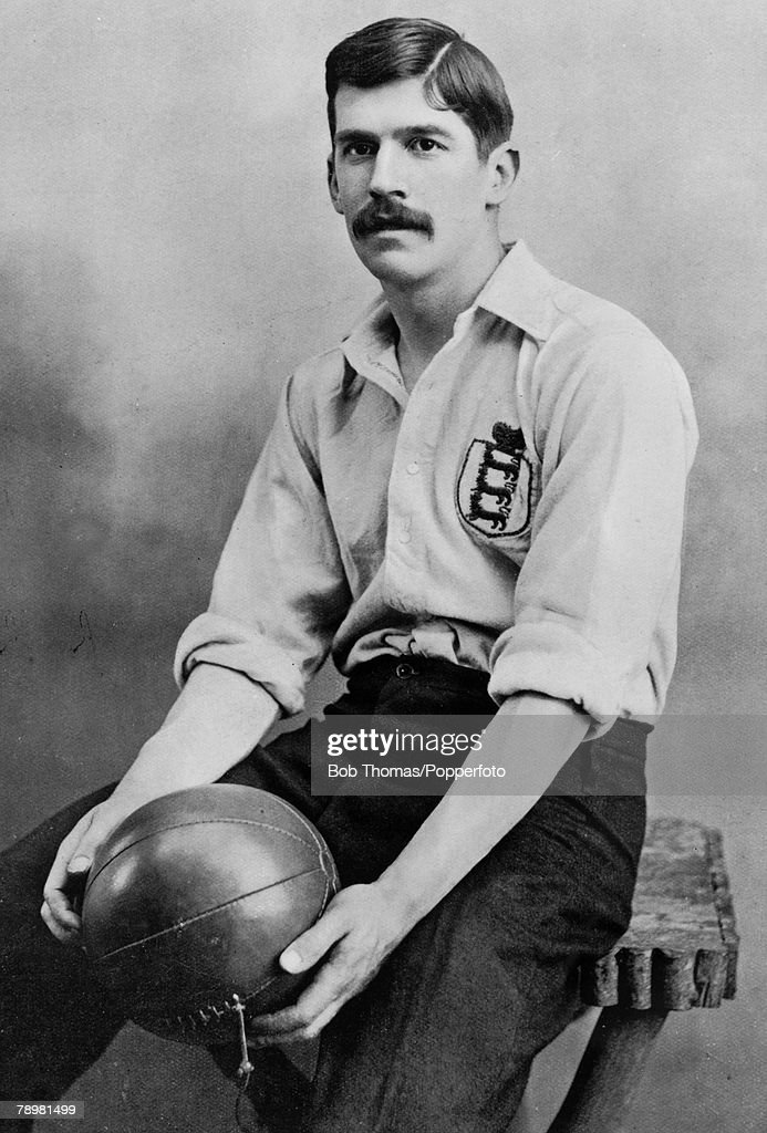 Sport. Football. pic: 1895. Charles Wreford-Brown, Oxford University, Corinthians and England, who won 4 England caps 1889-1898. : News Photo