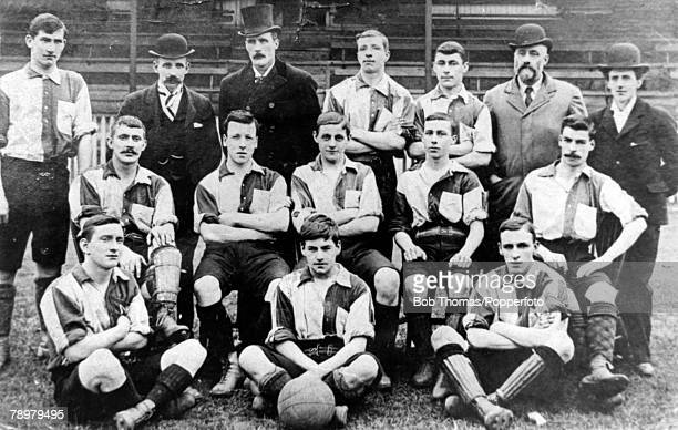 18971898 Northampton Town FC The Cobblers Back row leftright BSmith WJWestmorland AJDarnell JWhiting JSargent CGyde AJones Middle row leftright...