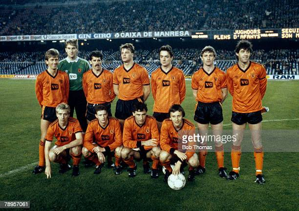 18th March 1987 UEFA Cup Quarter Final 2nd Leg Barcelona 1 v Dundee United 2 Dundee United win 31 on aggregate Dundee United team group before the...