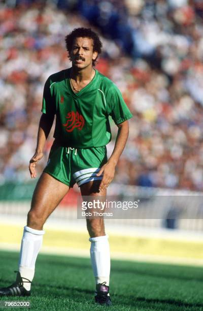 18th October 1985 World Cup Qualifier Algeria Algeria 3 v Tunisia 0 Lakhdar Belloumi Algeria
