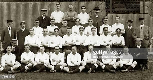19111912 Tottenham Hotspur FC Back row leftright JOver CRance JJoyce TMorris AHColeman 3rd row standing leftright HCarter MCadman TForman TCollins...