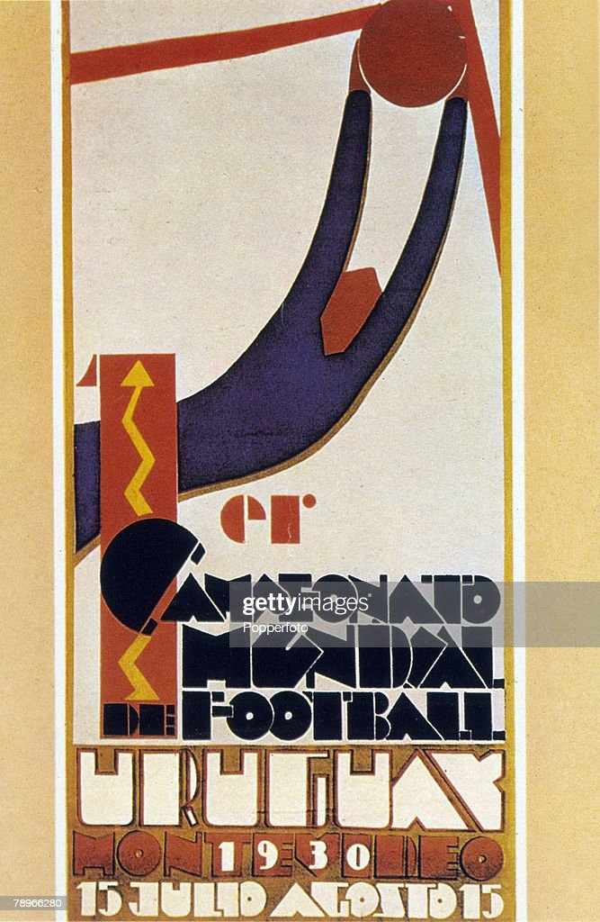 Sport. Football. pic: 1930. The official poster for the 1930 World Cup held in Uruguay. : News Photo