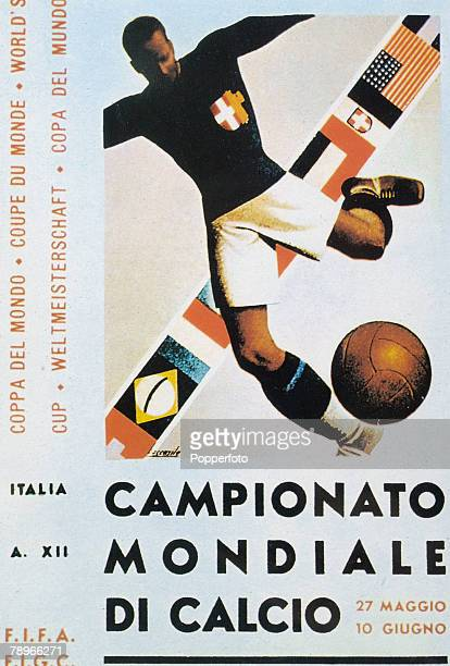 1934 The official poster for the 1934 World Cup held in Italy