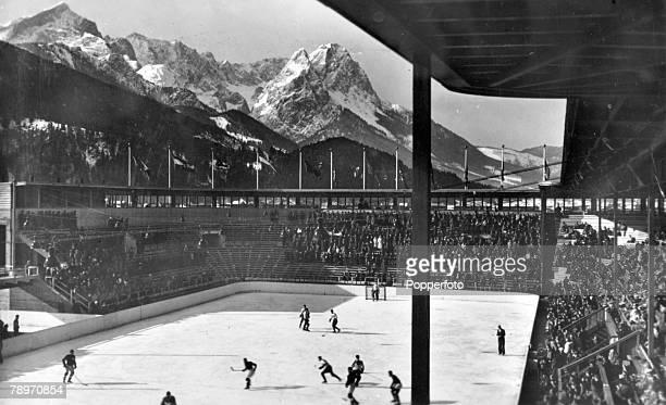 1936 Ice Hockey Bavaria Germany The Ice Hockey Stadium for the 1936 Winter Olympic Games at GarmischPartenkirchen