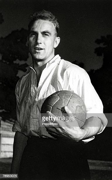 1950 England defender Billy Wright who won 105 caps for his country and captained England in 3 World Cups 1954 and 1958