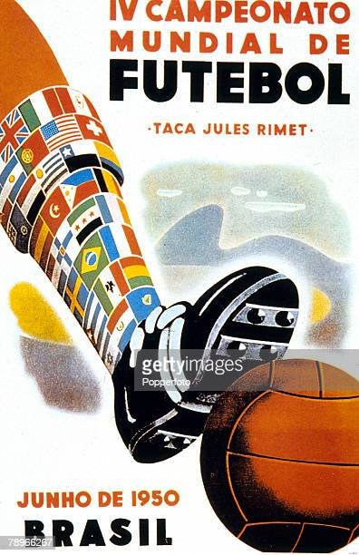 1950 The official poster for the 1950 World Cup held in Brazil