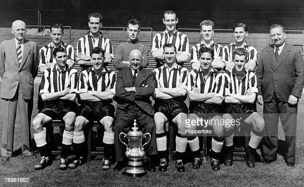 1952 1952 FA Cup Final at Wembley Newcastle United 1 v Arsenal 0 Newcastle United team that won the FA Cup Back row leftright Mr Hall Bobby Cowell...