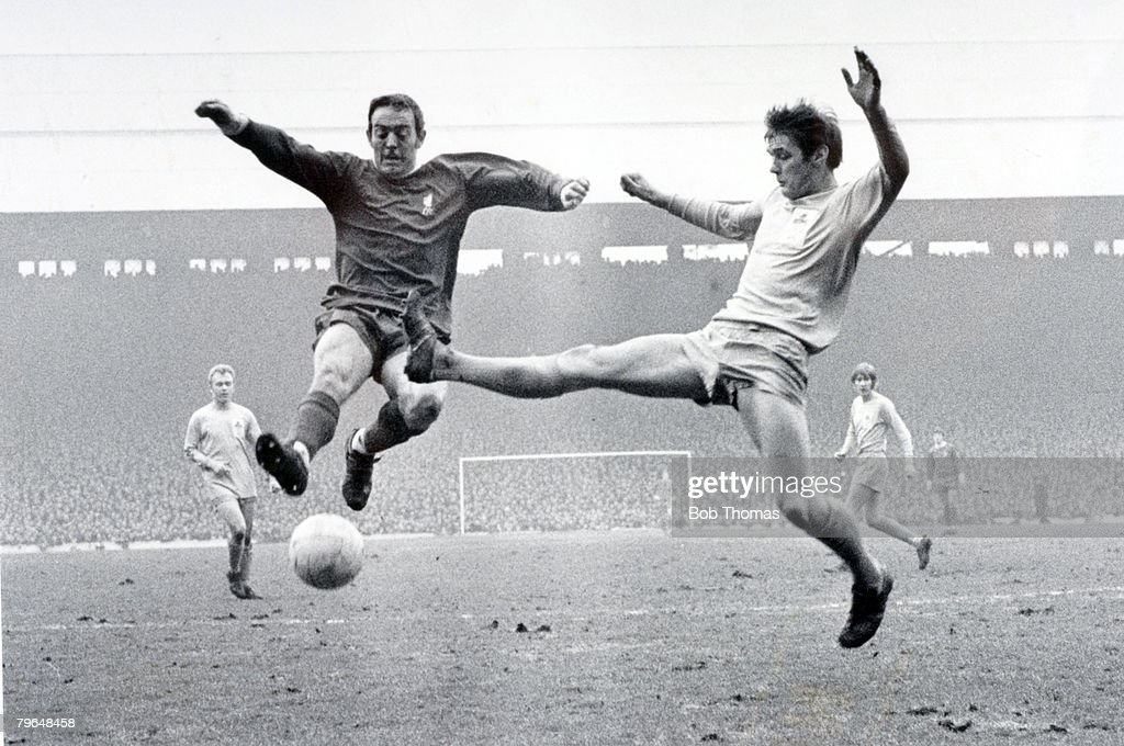 BT Sport, Football, pic: 1960's, Liverpool star Ian St John, left in action against Wrexham, Ian St, John played for Liverpool 1961-1970 and won 21 Scotland international caps between 1959-1965 : News Photo