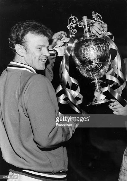 1969 Leeds United captain Billy Bremner holding the First Division Championship trophy