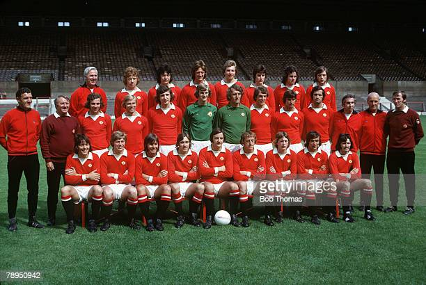 19741975 Manchester United 2nd Division Champions Back row leftright Tommy Cavanagh Jimmy Nicholl Alan Kirkup Arnold Sidebottom Paul Bielby Jimmy...