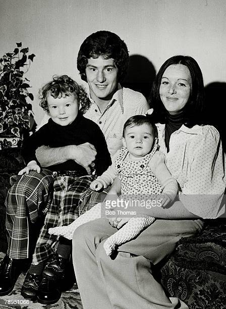1975 Arsenal's Brian Kidd at home with his wife Margaret son Mark and daughter Claire Louise