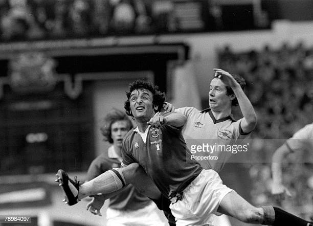 1979 1979 FA Cup Final at Wembley Arsenal 3 v Manchester United 2 Manchester United's Lou Macari holds off Arsenal's Liam Brady