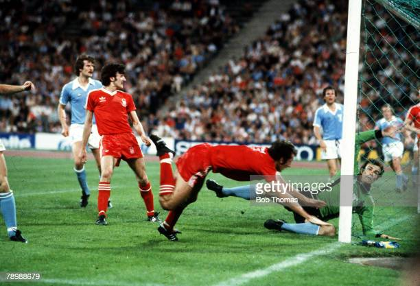 1979 European Cup Final in Munich Nottingham Forest 1 v Malmo 0 Nottingham Forest's Trevor Francis dives forward to head the winning goal