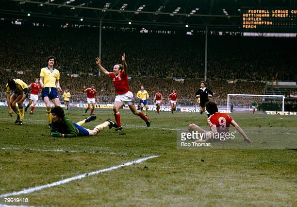1979 League Cup Final at Wembley Nottingham Forest 3 v Southampton 2 Nottingham Forest striker Garry Birtles has scored their 2nd goal as Archie...
