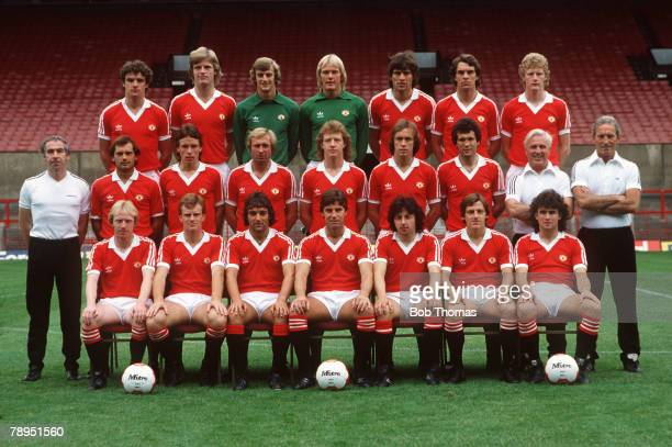 19801981 season Manchester United squad Back row leftright Kevin Moran Gordon McQueen Paddy Roche Gary Bailey Nikola Jovanovic Joe Jordan Ashley...