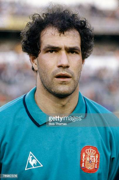 1980's Andoni Zubizaretta Spain goalkeeper