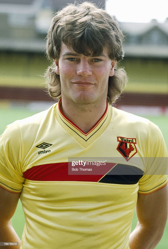 Sport. Football. pic: 1980's. Steve Terry, Watford central defender 1979-1988. : News Photo