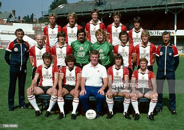 Southampton F,C, First Team Squad, 1981-1982, Back row, left-right, Graham Baker, Nick Holmes, Chris Nicholl, Trevor Hebberd, Steve Moran, Middle...