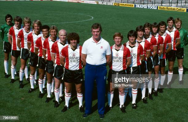 Southampton F,C, First Team Squad, 1981-1982, left-right, Ivan Katalinic, Mike Channon, Malcolm Waldron, Nick Holmes, Reuben Agboola, Graham Baker,...