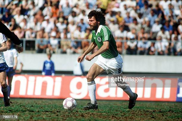 1981 World Cup Qualifier in Lahti Finland 0 v West Germany 4 Paul Breitner West Germany