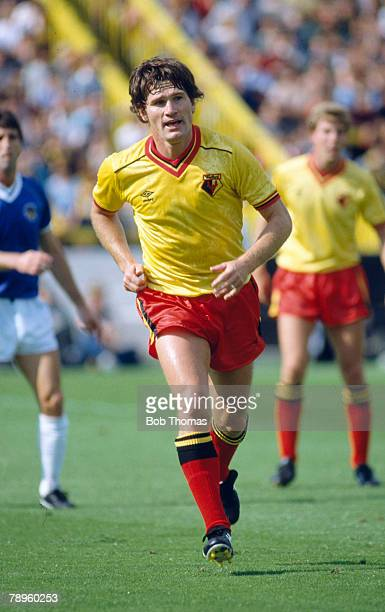 1982 Division 1 Watford 2 v Everton 0 Pat Rice Watford full back Pat Rice played for Arsenal 19651981 and won 49 Northern Ireland caps between...