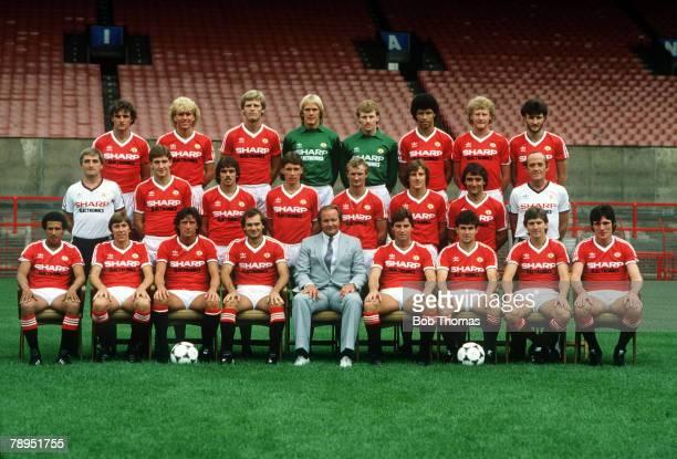 1982 Manchester United 1982 1983 Back row left right Kevin Moran Scott McGarvey Gordon McQueen Gary Bailey Stephen Pears Paul McGrath Ashley Grimes...