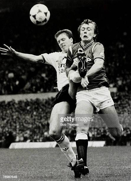 1985 Division 1 Manchester United v Liverpool Manchester United's Peter Barnes is challenged by Liverpool's Steve Nicol