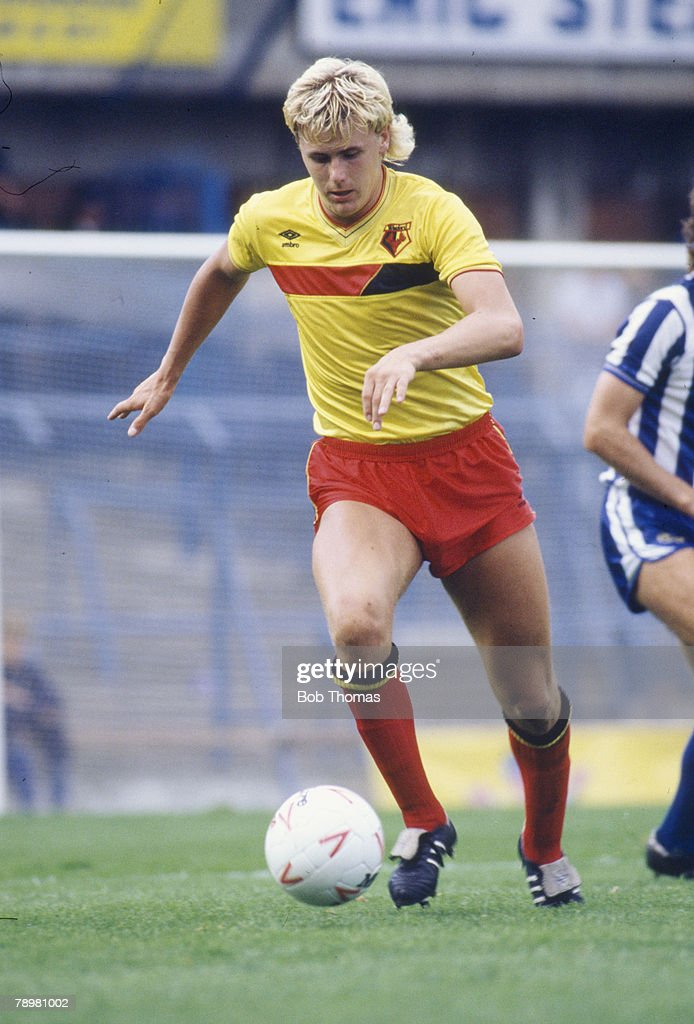 Sport. Football. pic: 1985. Division 1. Sheffield Wednesday 2 v Watford 1. Colin West, Watford striker. : News Photo