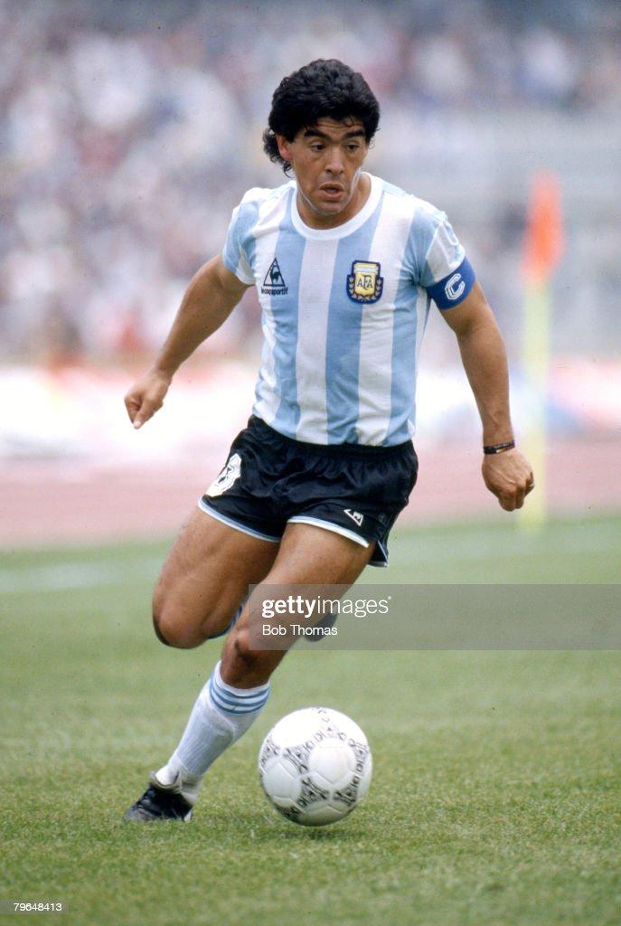 1986, World Cup Finals in Mexico, Diego Maradona, Argentina, Diego Maradona won 91 Argentina international caps between 1974-1994