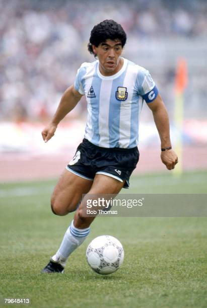 1986 World Cup Finals in Mexico Diego Maradona Argentina Diego Maradona won 91 Argentina international caps between 19741994