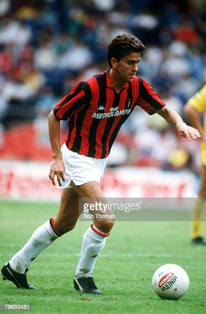 1988 Alessandro Costacurta ACMilan Alessandro Costacurta first played for ACMilan in season 19851986 and is an Italian international
