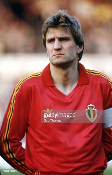 1989 Jan Ceulemans Belgium portrait He played for his country from 19771990 in 3 World Cups and made a total of 96 international appearances