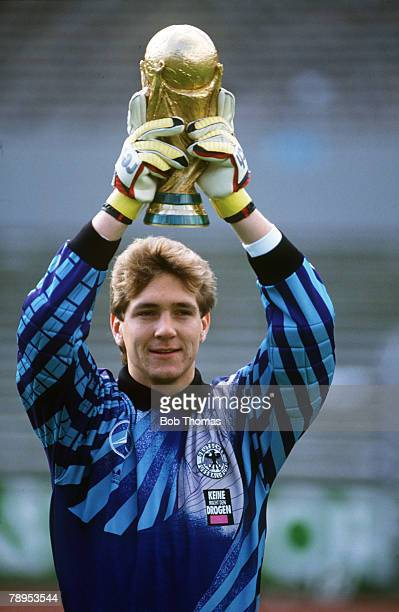 1990 Bodo Illgner West Germany the 1990 World Cup winning goalkeeper with West Germany lifts the World Cup