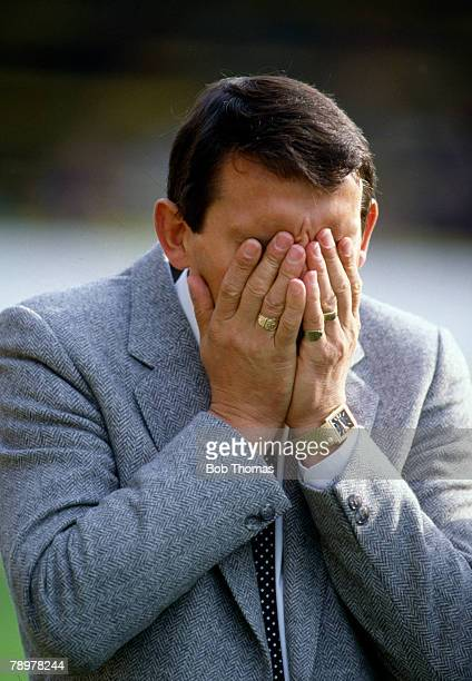 1993 Graham Taylor England Manager with his head in his hands Graham Taylor was the England Manager 19901993