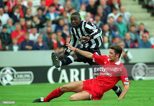 1993 Newcastle United striker Andy Cole shoots past Swindon Town's AWhitbread Andy Cole made a name for himself at Newcastle United where he became a...