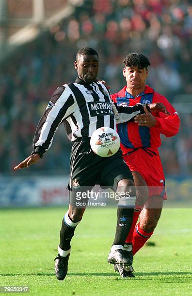 1993 Newcastle United striker Andy Cole under pressure from Crystal Palace's Richard Shaw Andy Cole made a name for himself at Newcastle United where...