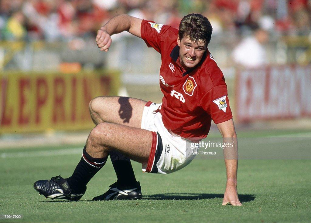 BT Sport, Football, pic: 1994, Gary Pallister, Manchester United central defender 1989-1997, who won 22 England international caps between 1988-1997 : News Photo