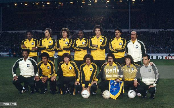 19th April 1978 Wembley Friendly International England 1 v Brazil 1 Brazil team group