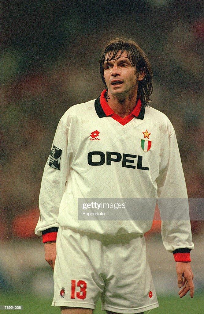 Sport. Football. pic: 19th April 1995. Filippo Galli, AC. Milan. : News Photo