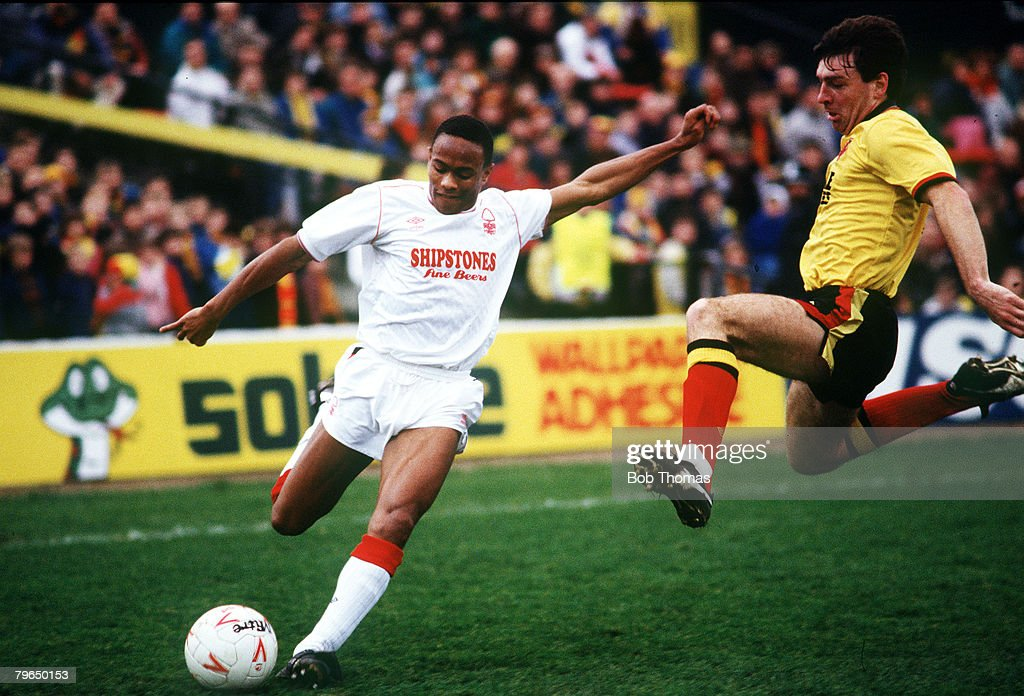 Sport, Football, pic: 19th February 1989, F,A,Cup 5th Round, Watford,0,v Nottingham Forest,3 : News Photo