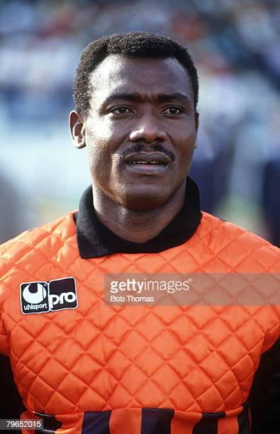 19th November 1989 World Cup Qualifier Tunis Tunisia 0 v Cameroon 1 JosephAntoine Bell Cameroon goalkeeper